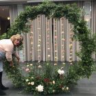 moongate circle round wedding arch for hire Passion for Flowers