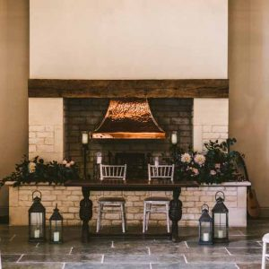 Fireplace decorations wedding