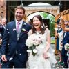 Shustoke Farm Barns summer wedding confetti