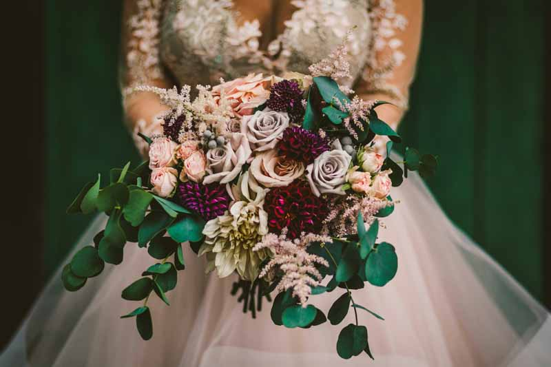 Lilac dusky pink green organic wedding bouquets Passion for Flowers
