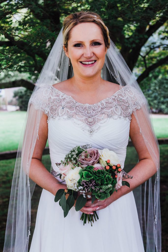 Dusky Pink White Green Summer Wedding Bouquet Hampton Manor Weddings