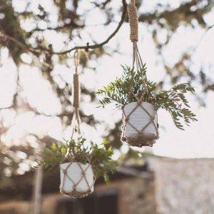 Hanging macrame foliage wedding Tuscany Italy