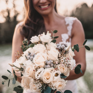Grey and White Wedding Bouquet Passion for Flowers Winter Wedding