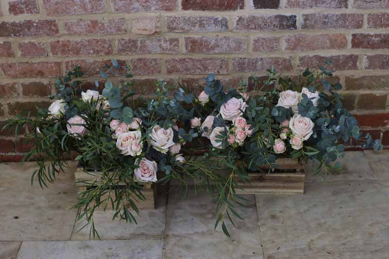 Natural organic style pink green foliage wedding bouquets bride bridesmaids Passion for Flowers 1
