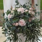 Natural organic style wedding bouquet pink Passion for Flowers