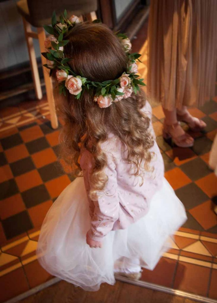 Pink rose bud flower girl hair flowers flower crowns Passion for Flowers