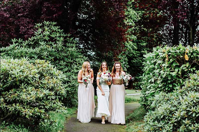 bridesmaids Shustoke Farm Barns Passion for Flowers