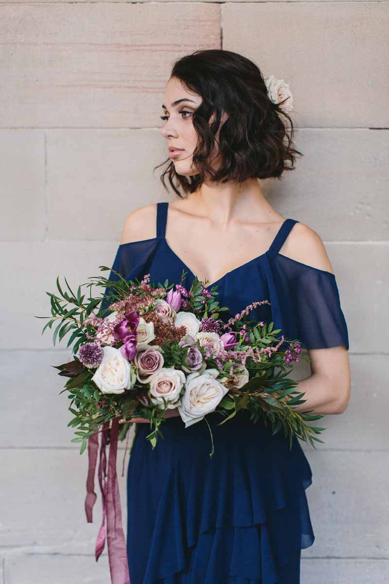 Coast bridesmaid dress shoot 2018 passion for flowers passion deep pink purple flowers with navy blue bridesmaids dresses coast izmirmasajfo