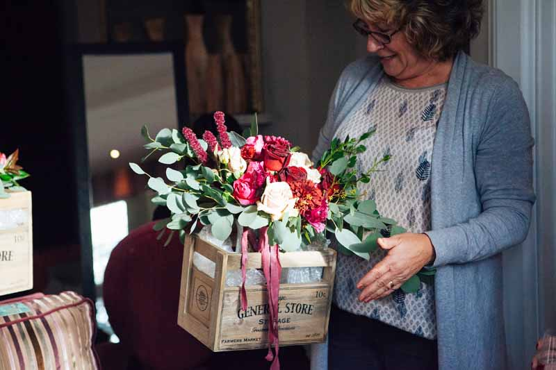 Karen Morgan Passion for Flowers delivering bouquets Hampton Manor