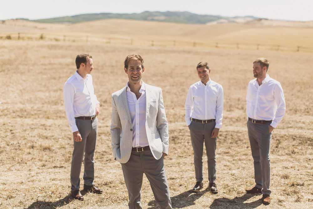 Grey Jackets Chinos Mens Wedding Attire Wedding in Tuscany, Locanda IN Tuscany Bridal Party Getting Ready - Passion for Flowers Destination Wedding