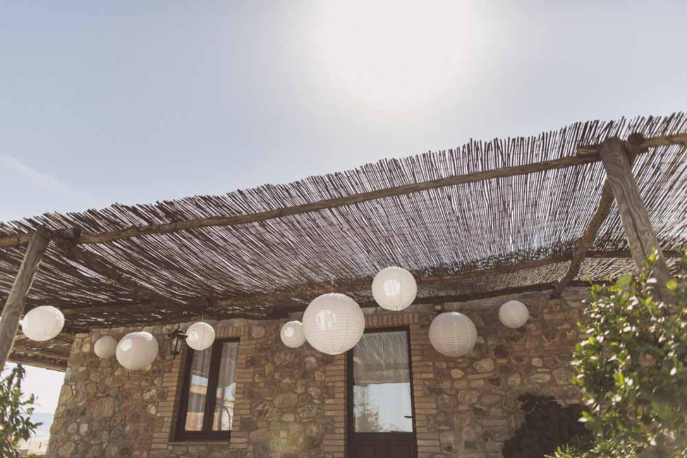Rustic Hilltop Wedding in Tuscany Hanging Paper Lanterns Passion for Flowers - Locanda In Tuscany