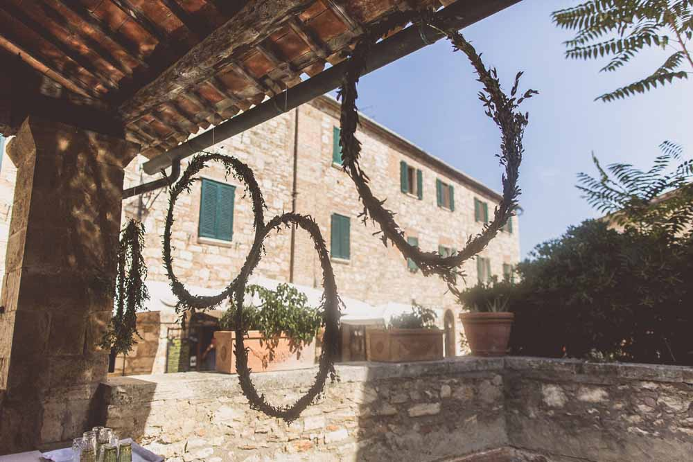 Hanging flower hoops foliage, ceremony backdrop