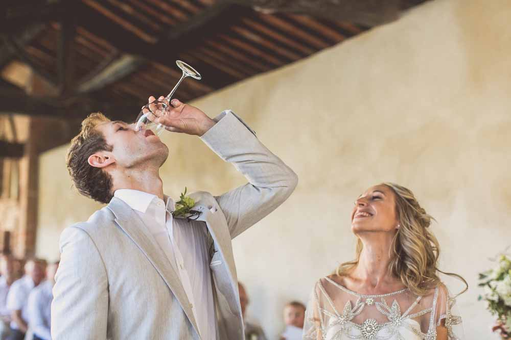 Wedding ceremony ritual toast to life