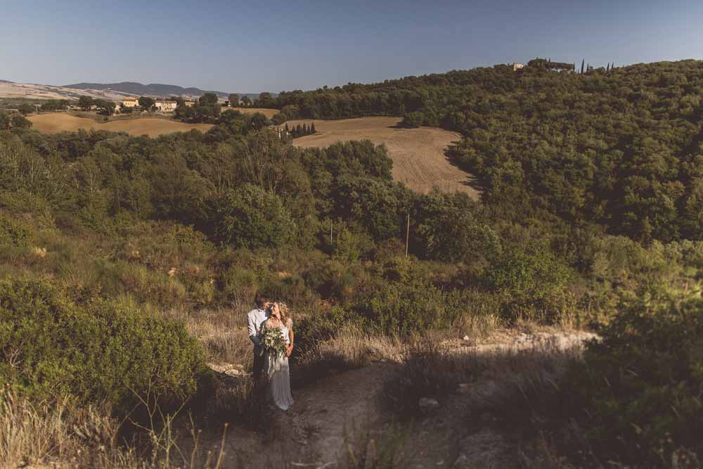 Anna Campbell Adelaide Wedding Gown, Couple portraits Destination wedding Tuscany, Bagno Vignoni