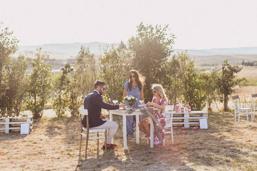 Rustic Hilltop Destination Wedding drinks reception aperitivo - Tuscany Italy Passion for Flowers