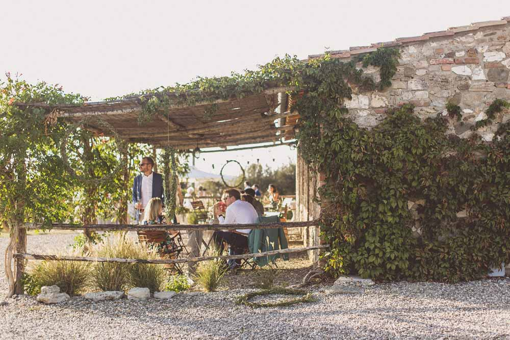 Rustic Hilltop Destination Wedding Chill out gazebo shade - Tuscany Italy Passion for Flowers Locanda In Tuscany