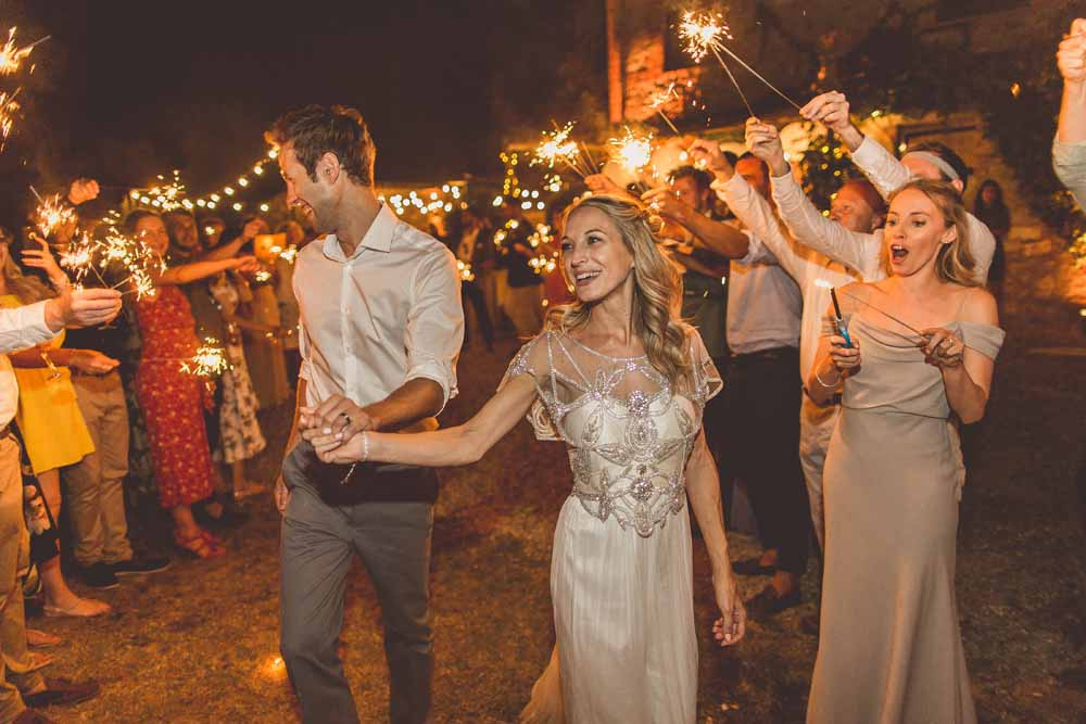 Outdoor wedding dance floor first dance sparklers, destination wedding Tuscany