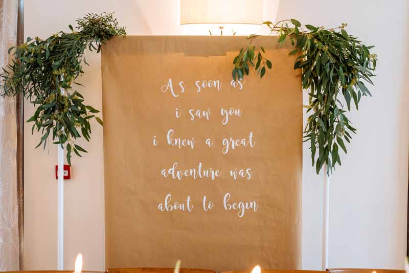 Wedding-backdrop-scroll-of-brown-paper