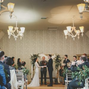 Birch arbour rustic ceremony arch Passion for Flowers Hampton Manor