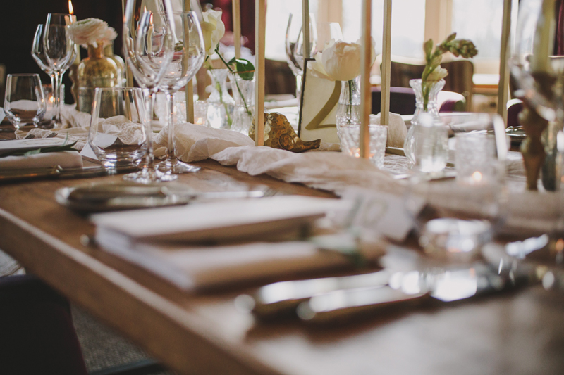Gold wedding table ideas Hampton Manor Wedding Florist Passion for Flowers