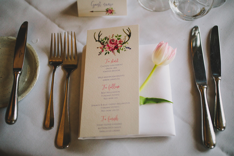 Hampton Manor Wedding Florist Passion for Flowers Place Settings Spring Tulips