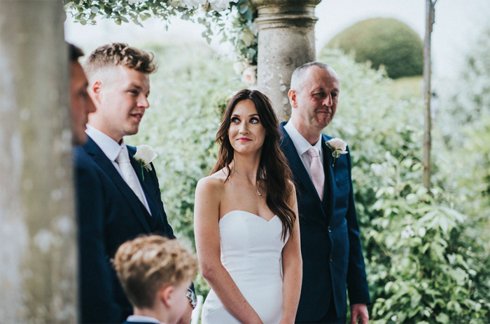 Birtsmorton Court outdoor wedding ceremony Passion for Flowers