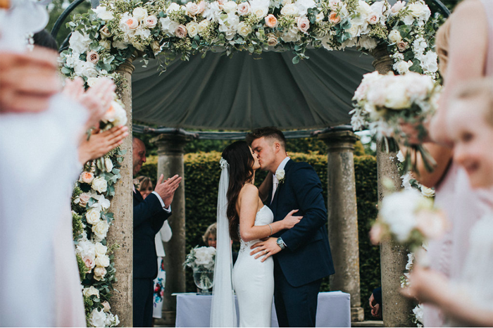 Birtsmorton Court wedding florist Passion for Flowers rose arch