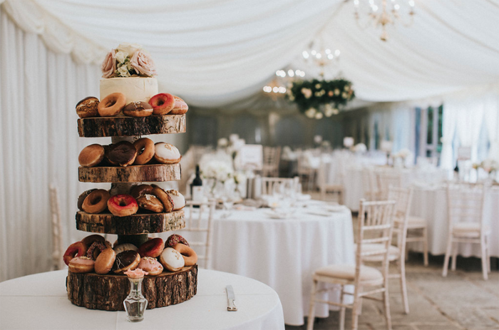 Donuts wedding cake alternative