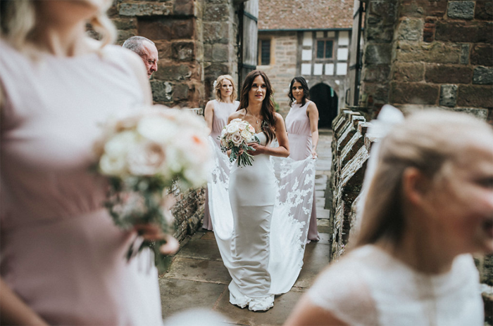 Elegant glam wedding Birtsmorton Court Passion for Flowers
