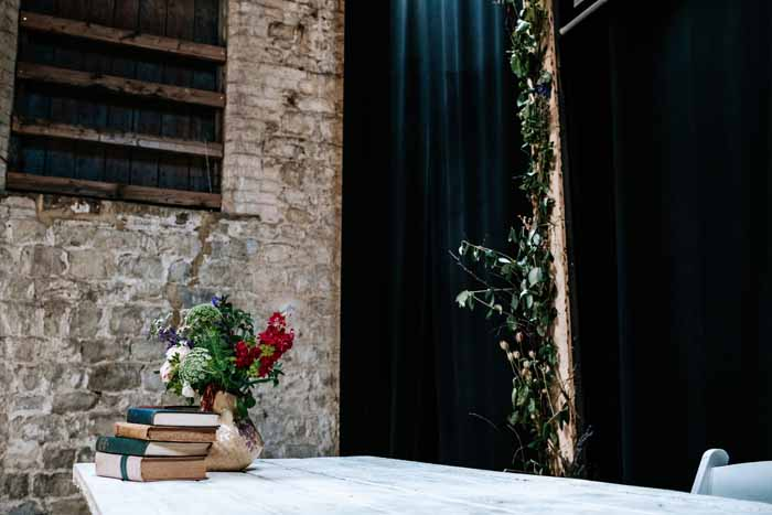 Foliage Arches Barn Wedding Longbourne Barn wedding ceremony Passion for Flowers Festival Wedding