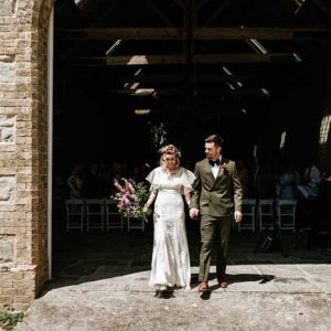 Summer Longbourne Barn wedding ceremony followed by Tipi Wedding Florist - Passion for Flowers