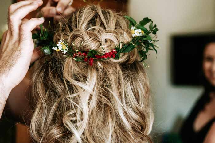Wedding Hair Flowers Flower Crown Passion for Flowers Festival Wedding