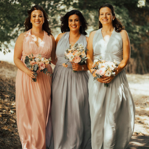 Pastel bridesmaids dresses country pub wedding ideas Passion for Flowers wedding florists Solihull
