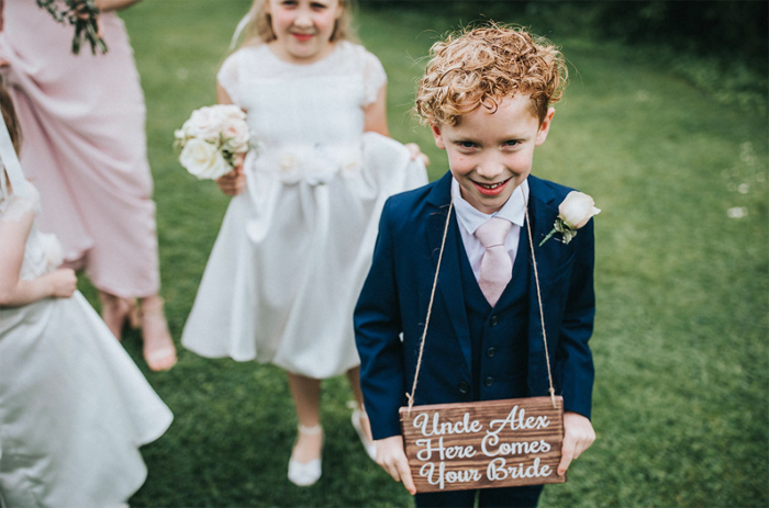 Ring bearer wooden sign Uncle here comes your bride