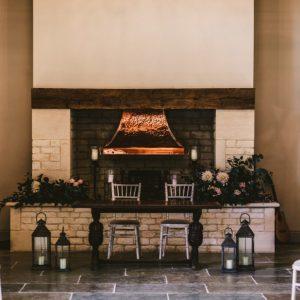 Blackwell Grange wedding fireplace wedding decoration by florist