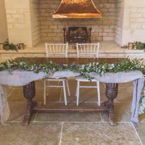 Blackwell Grange wedding top table ceremony garlands Passion for Flowers Florist
