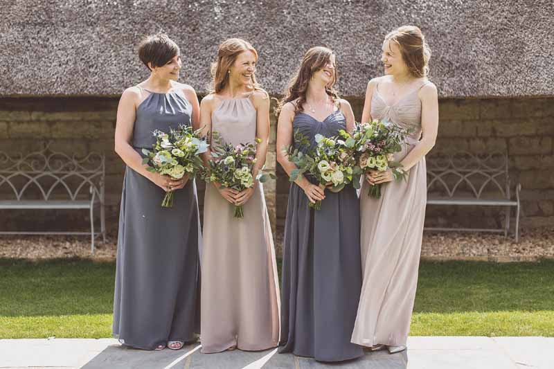 Bridesmaids dress charcoal grey vintage rose florals by Passion for Flowers