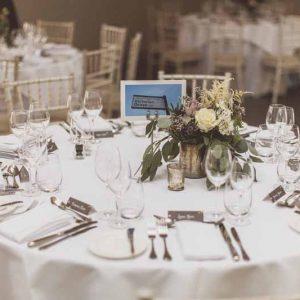 Centrepieces Blackwell Grange wedding venue florist Passion for Flowers