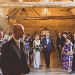 Ceremony barn Blackwell Grange wedding venue