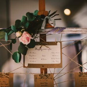 DIY wedding table plan twine and pegs