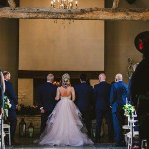 Rustic barn wedding ceremony England Blackwell Grange 2