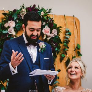floral backdrop top table
