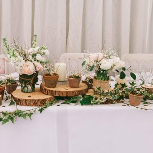 rustic top table wedding birtsmorton court