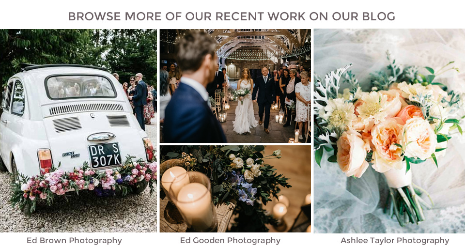 Passion for Flowers wedding florists most recent weddings on our blog