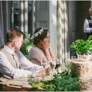 Rustic woodland wedding top table decorations Hampton Manor