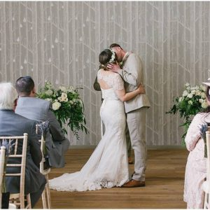 Wedding ceremony Hampton Manor wedding florist Passion for Flowers urns
