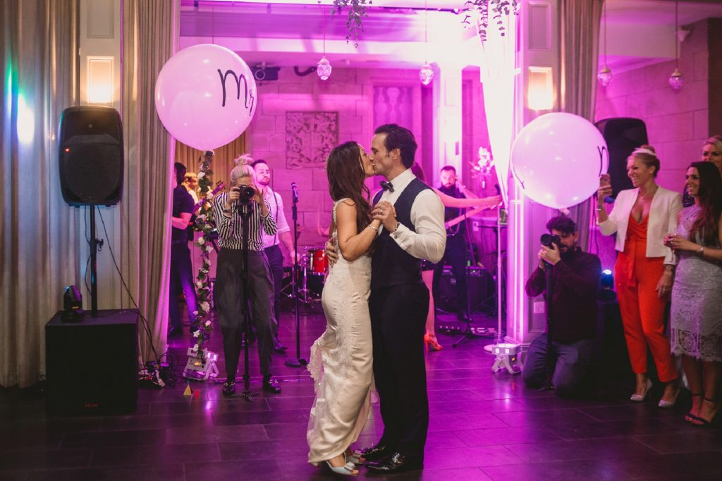 first dance with mr mrs balloons