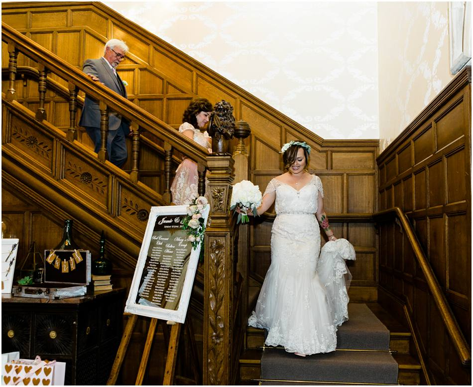 hampton manor wedding staircase Passion for Flowers florists