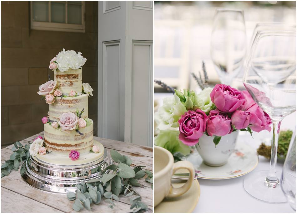 pretty pink wedding cakes