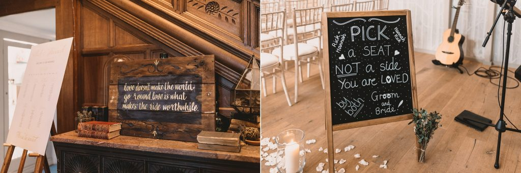 wedding ceremony signange chalkboard signs